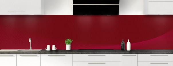 Crédence de cuisine Ombre et lumière couleur rouge pourpre panoramique motif inversé