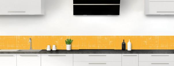 Crédence de cuisine Ardoise rayée couleur abricot dosseret