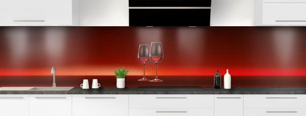 Crédence de cuisine Verres de vin panoramique