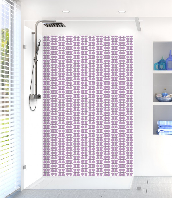 Panneau de douche Petites Feuilles  couleur parme
