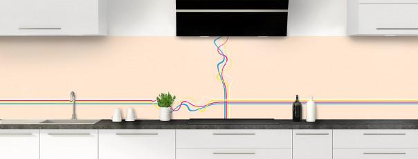 Crédence de cuisine Light painting couleur sable panoramique motif inversé
