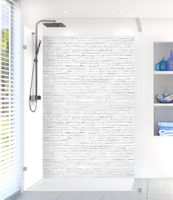 Panneau de douche Briques plates blanches