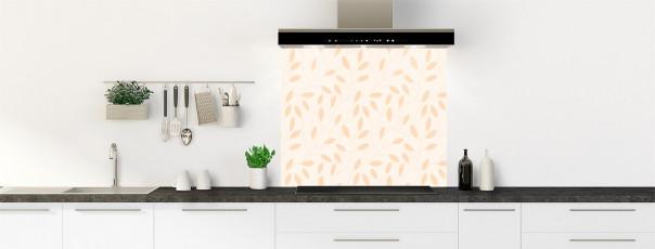 Crédence de cuisine Rideau de feuilles couleur magnolia fond de hotte