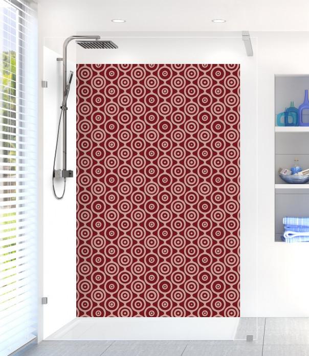 Panneau de douche Papier peint rétro couleur rouge pourpre