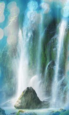 Crédence Rocher et cascade