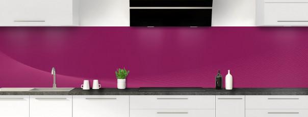 Crédence de cuisine Ombre et lumière couleur prune panoramique