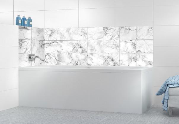 Panneau de bain Carreaux marbre blanc