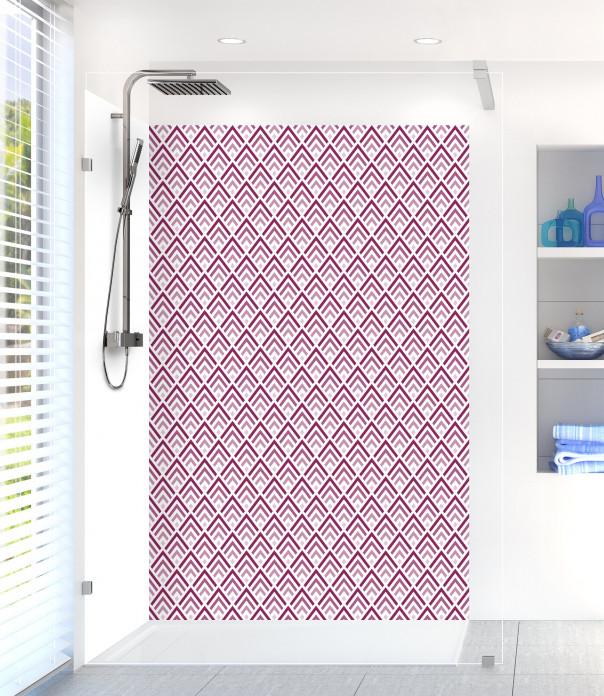 Panneau de douche Ecailles  couleur prune