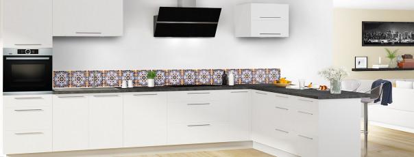 Crédence de cuisine Carreaux de ciment mosaïque dosseret en perspective