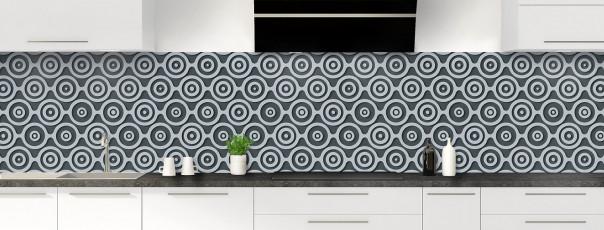 Crédence de cuisine Papier peint rétro couleur gris carbone panoramique
