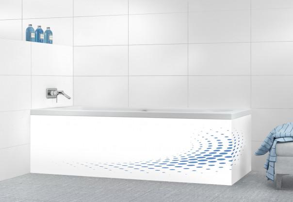 Panneau tablier de bain Nuage de points couleur bleu lavande