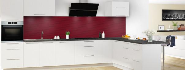 Crédence de cuisine Ondes couleur rouge pourpre panoramique en perspective