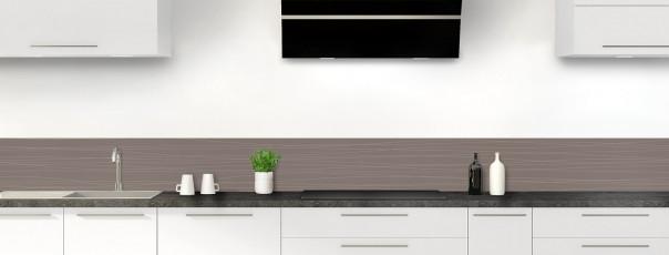 Crédence de cuisine Lignes horizontales couleur taupe dosseret
