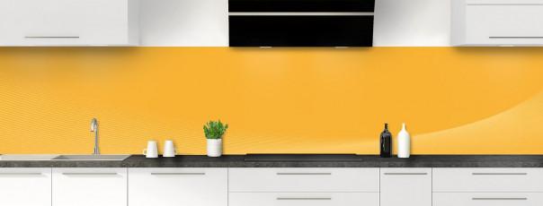 Crédence de cuisine Ombre et lumière couleur abricot panoramique motif inversé