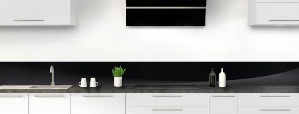 Crédence de cuisine Ombre et lumière couleur noir dosseret motif inversé
