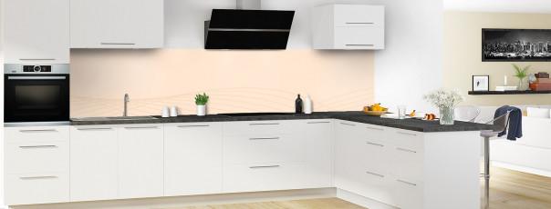 Crédence de cuisine Courbes couleur sable panoramique motif inversé en perspective