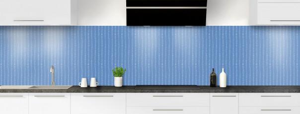Crédence de cuisine Pointillés couleur bleu lavande panoramique