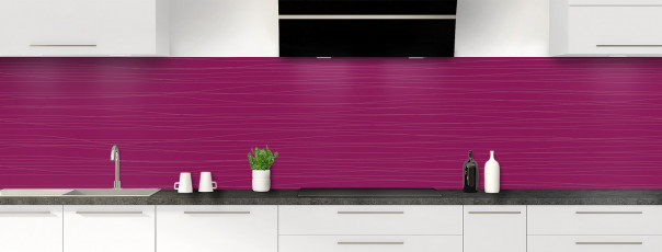 Crédence de cuisine Lignes horizontales couleur prune panoramique