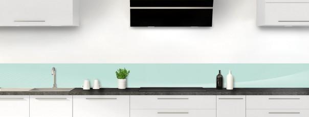 Crédence de cuisine Ombre et lumière couleur vert pastel dosseret motif inversé