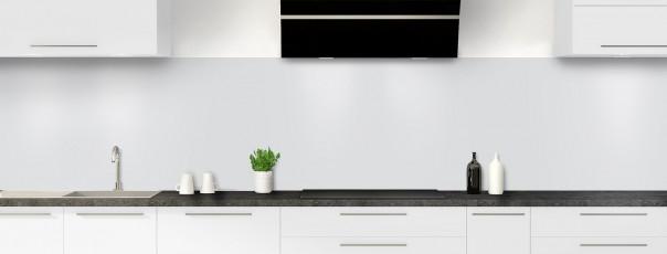 Crédence de cuisine Gris clair panoramique