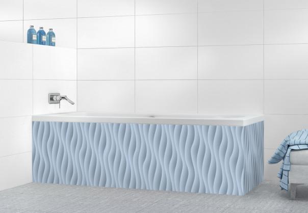 Panneau tablier de bain Ondes couleur bleu azur