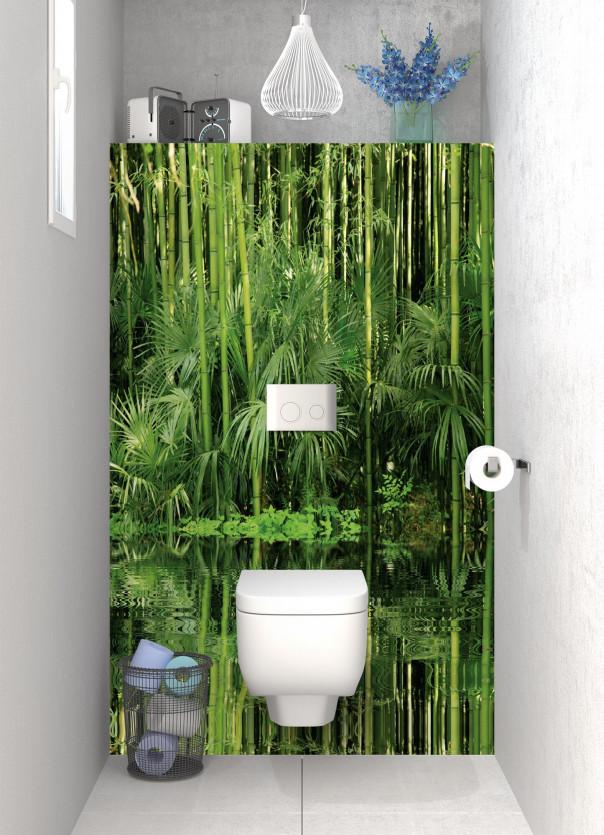 Panneau WC Bambou au bord de l'eau