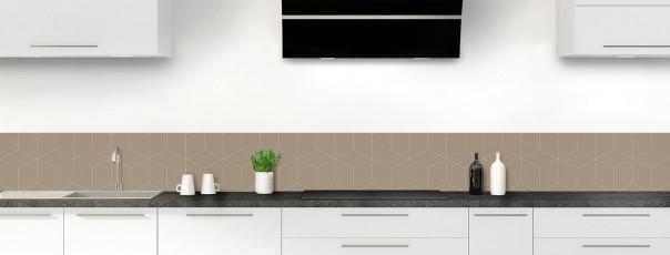 Crédence de cuisine Cubes en relief couleur marron glacé dosseret