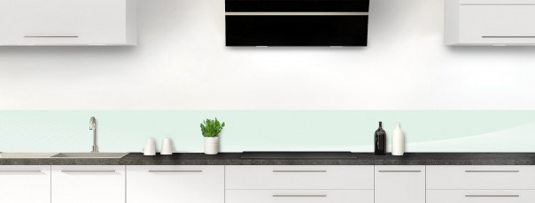 Crédence de cuisine Ombre et lumière couleur vert eau dosseret motif inversé