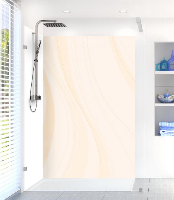 Panneau de douche Voilage couleur magnolia
