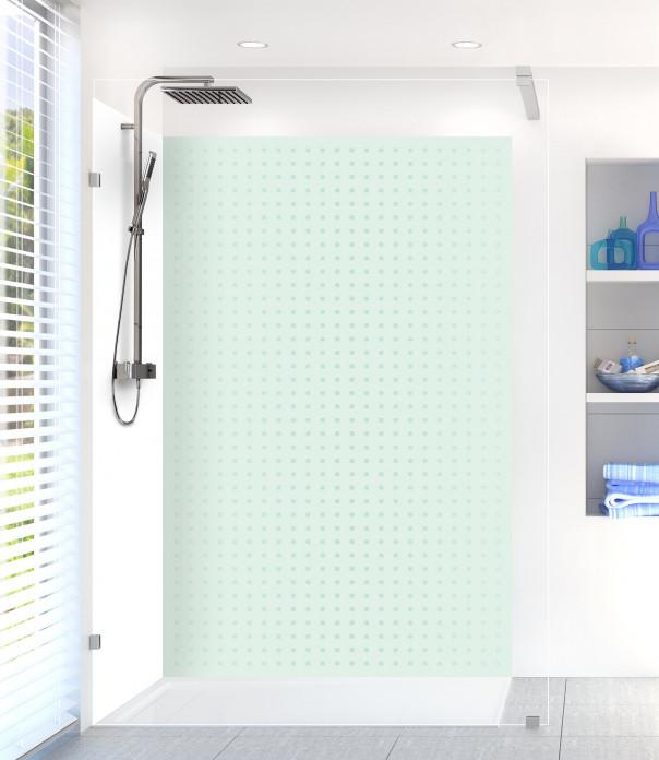 Panneau de douche Petits carrés couleur vert eau