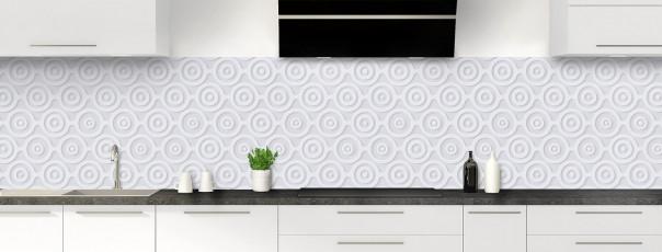 Crédence de cuisine Papier peint rétro couleur gris clair panoramique
