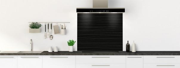 Crédence de cuisine Lignes horizontales couleur noir fond de hotte
