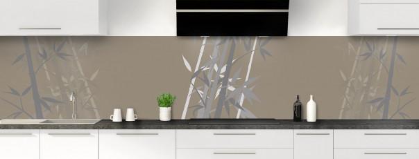 Crédence de cuisine Bambou zen couleur marron glacé panoramique