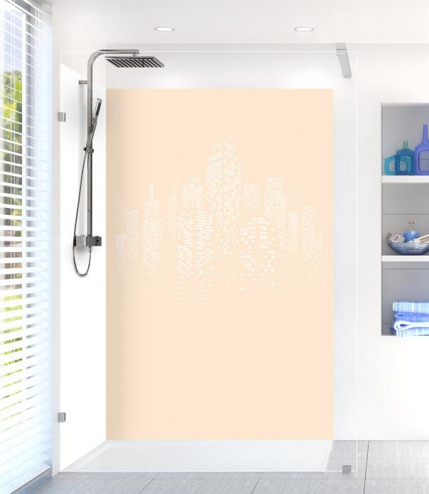 Panneau de douche Gratte-ciels couleur sable motif inversé