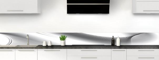 Crédence de cuisine Volute couleur blanc dosseret motif inversé