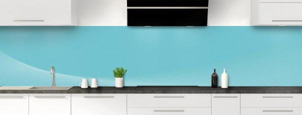 Crédence de cuisine Ombre et lumière couleur bleu lagon panoramique
