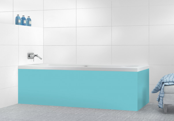 Panneau tablier de bain Bleu lagon