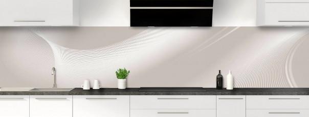 Crédence de cuisine Volute couleur argile panoramique