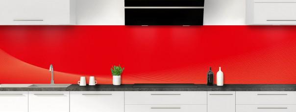 Crédence de cuisine Ombre et lumière couleur rouge vif panoramique