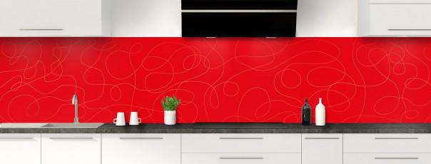 Crédence de cuisine Gribouillis couleur rouge vif panoramique