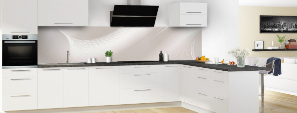 Crédence de cuisine Volute couleur argile panoramique en perspective