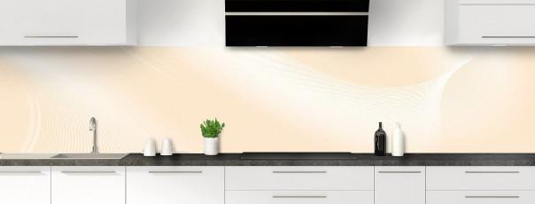 Crédence de cuisine Volute couleur sable panoramique motif inversé