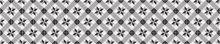 Crédence Carreaux de ciment vintage Noir et Blanc