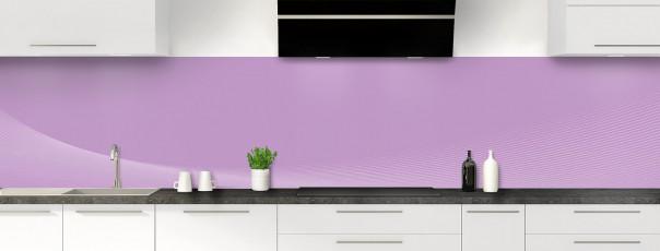 Crédence de cuisine Ombre et lumière couleur parme panoramique