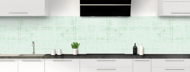 Crédence de cuisine Ardoise rayée couleur vert eau panoramique