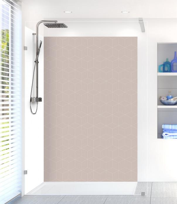 Panneau de douche Cubes en relief couleur argile