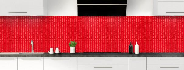 Crédence de cuisine Pointillés couleur rouge vif panoramique