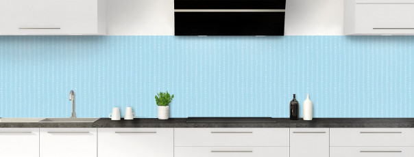 Crédence de cuisine Pointillés couleur bleu azur panoramique