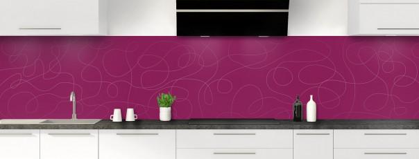 Crédence de cuisine Gribouillis couleur prune panoramique
