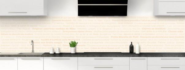 Crédence de cuisine Recettes de cuisine couleur magnolia panoramique